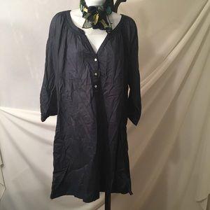 Dresses & Skirts - Navy blue H&M lightweight pocketed dress w/ V-neck